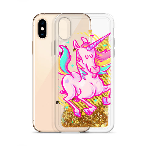 Unicorn - Liquid Glitter iPhone Case