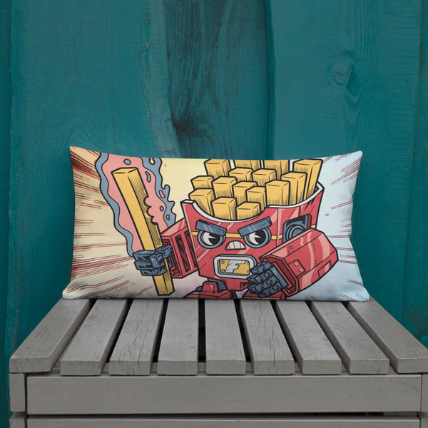 Fry-nator Fast Food Mech - Premium Pillow
