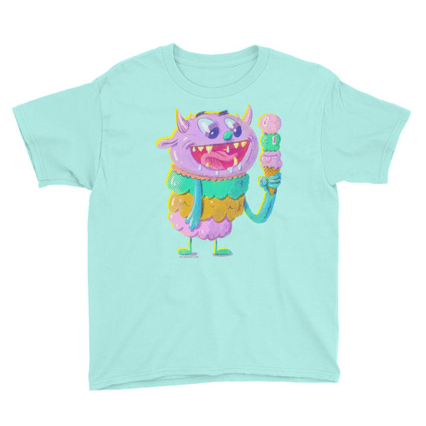 Ice Cream Monster - Youth Short Sleeve T-Shirt