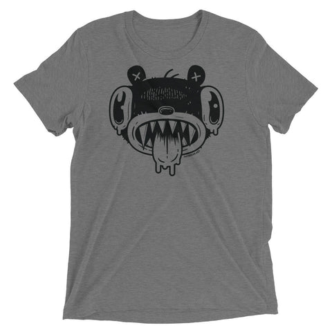 Noodle Bear Face - Tri-blend t-shirt