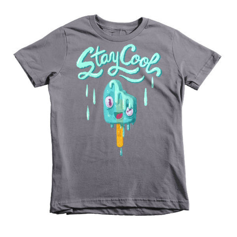 Stay Cool (Melting Popsicle) - Short sleeve kids t-shirt