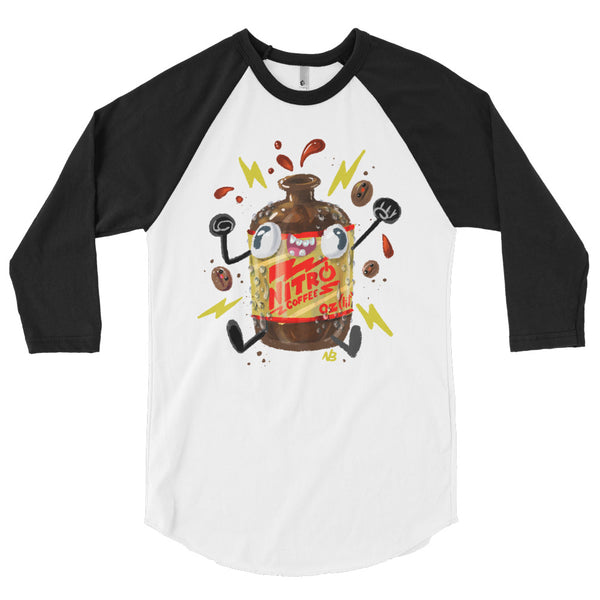 Nitro Coffee - 3/4 sleeve raglan shirt