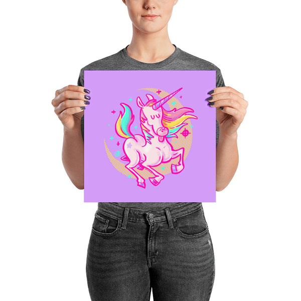 Awesome Unicorn Poster - Matte Art Print