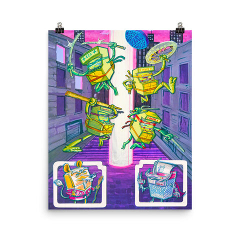 Turtle Arcade Games Poster