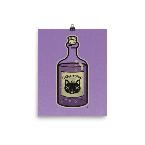 Cat-A-Tonic Poison Bottle - Art Print Poster