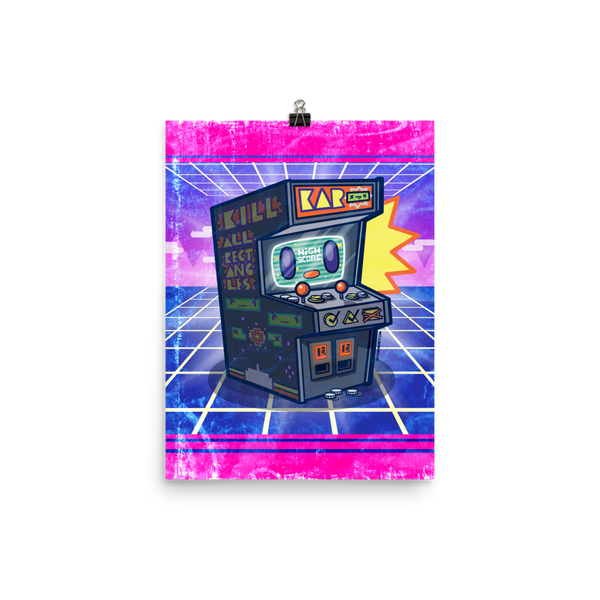 Arcade Buddy – Retro Gamer Art Print Poster