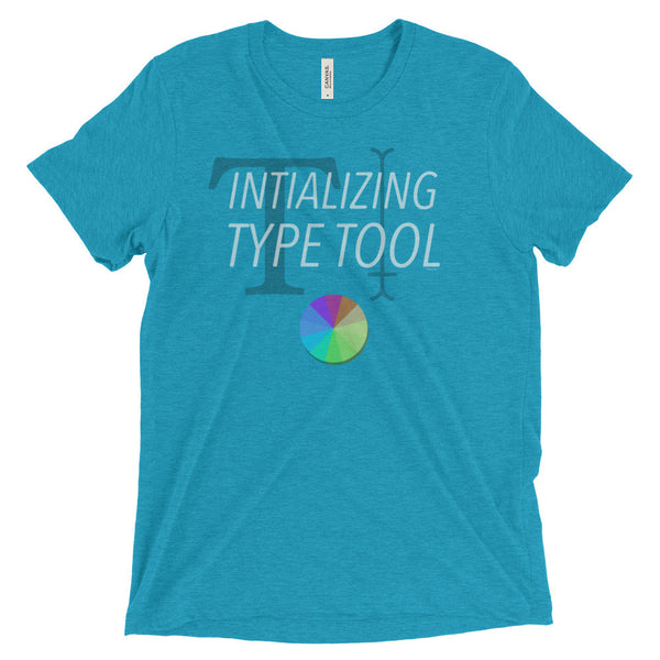 Initializing Type Tool — Short sleeve t-shirt