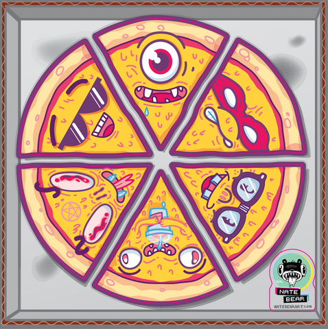 Pizza Pals - Pizza Pie Faces Sticker Sheet