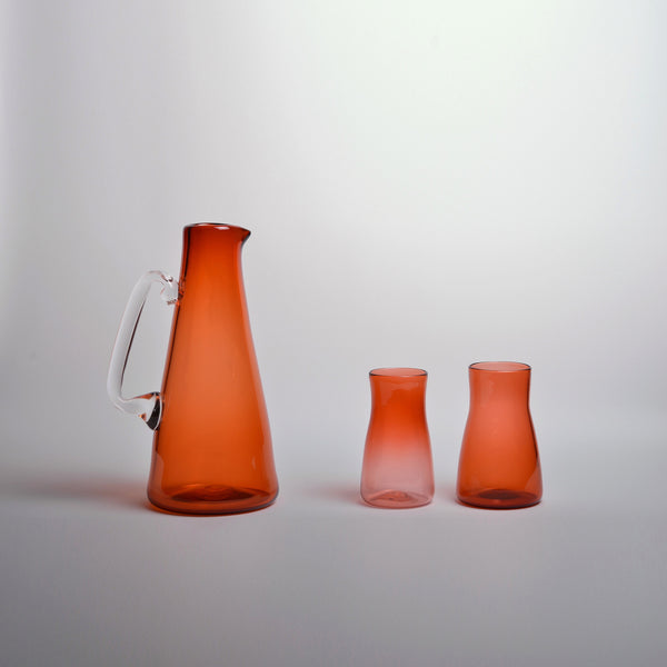 MCS - Set of Apricot pitcher and 2 cups
