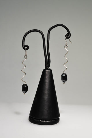 Hematite Earrings on hand-formed Sterling Silver