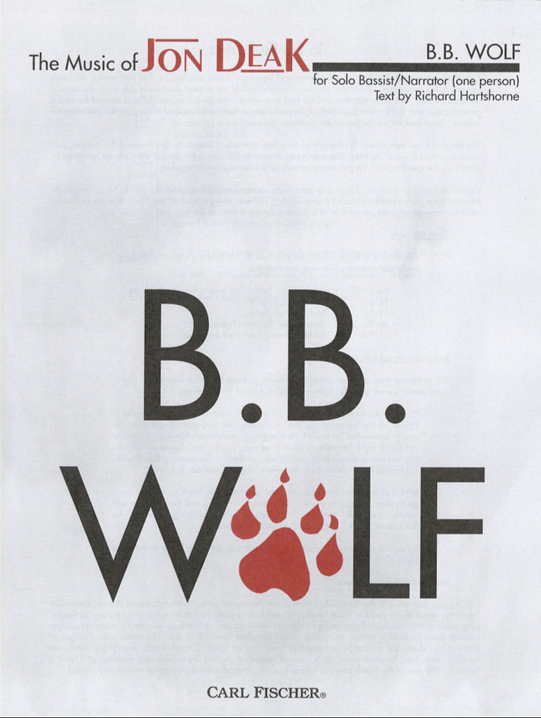 B B Wolf-Solo Bassist With Narrator