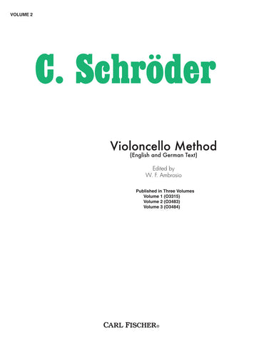 C. Schroder, Violincello Method | Imagine This Music
