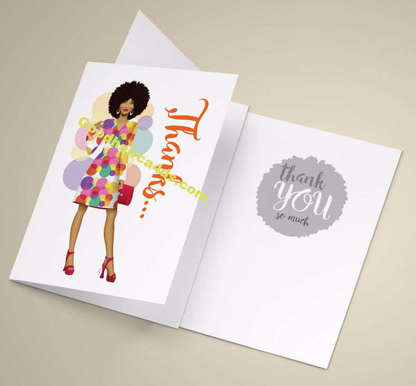 Madison - Big Afro Thank you card