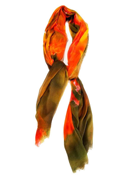 Autumn Cascade - Designer Luxury scarf by Sheila Johnson Collection