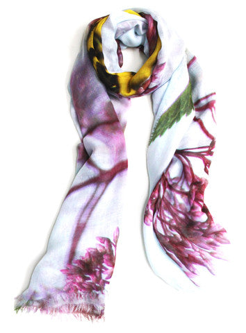 Butterflies - Designer Silk Scarf by Sheila Johnson Collection