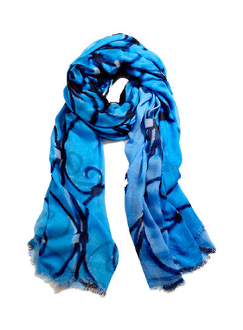 Cerulean Sky - Designer Silk Scarf by Sheila Johnson Collection