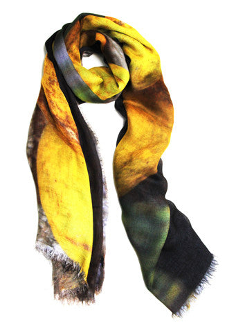 Lemons - Designer Silk Scarf by Sheila Johnson Collection