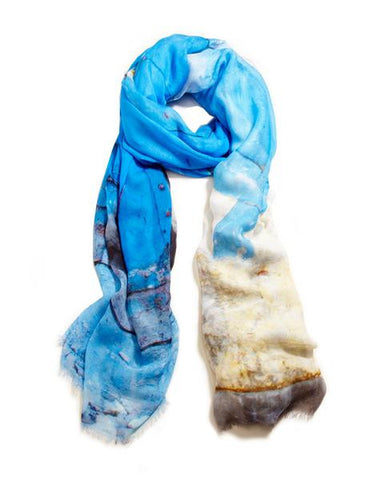 Door in Rubble - Designer Luxury scarf by Sheila Johnson Collection