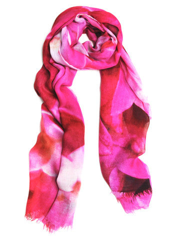Fuchsia - Designer Silk Scarf by Sheila Johnson Collection