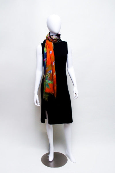 Grazing Horse - Designer Luxury scarf by Sheila Johnson Collection