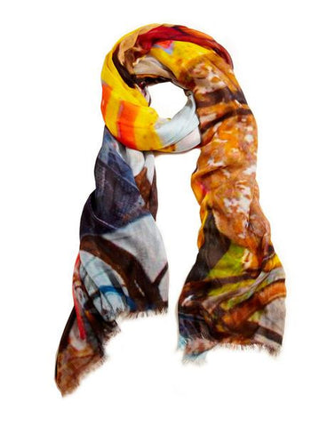 Lakeside Merchant - Designer Silk Scarf by Sheila Johnson Collection