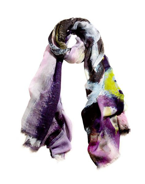 Lavender Cross - Designer Silk Scarf by Sheila Johnson Collection
