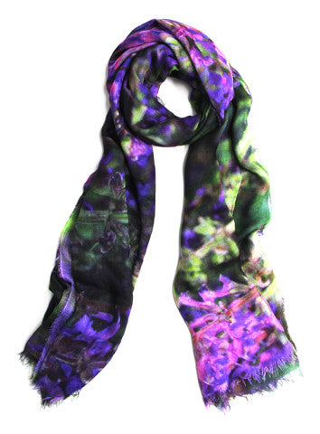 Lavender Fields - Designer Silk Scarf by Sheila Johnson Collection