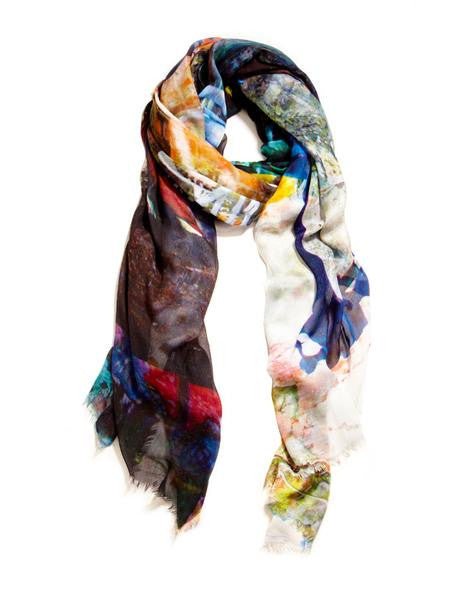 Mezi Kafe - Designer Silk Scarf by Sheila Johnson Collection
