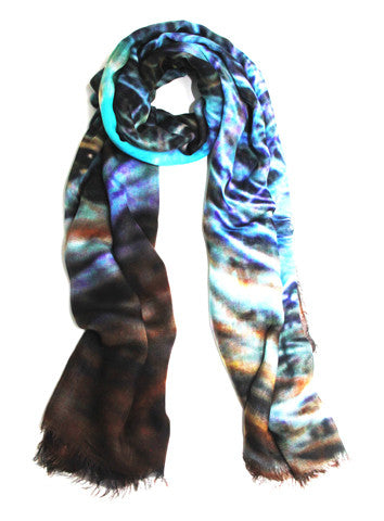 Nest Egg - Designer Silk Scarf by Sheila Johnson Collection
