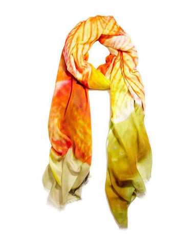 Orchid - Designer Silk Scarf by Sheila Johnson Collection