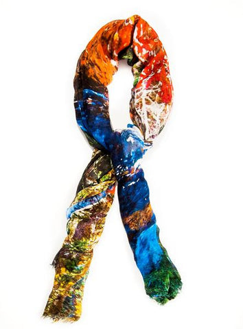 Peaceful Walk - Designer Silk Scarf by Sheila Johnson Collection