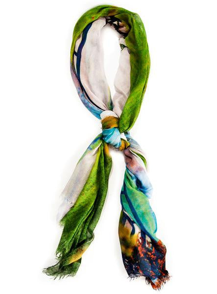 Piedmont Landscape - Designer Luxury scarf by Sheila Johnson Collection