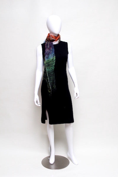 White Tree in Mist - Designer Luxury scarf by Sheila Johnson Collection