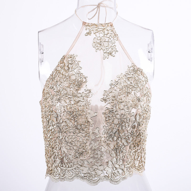 Comet  - transparent lace top