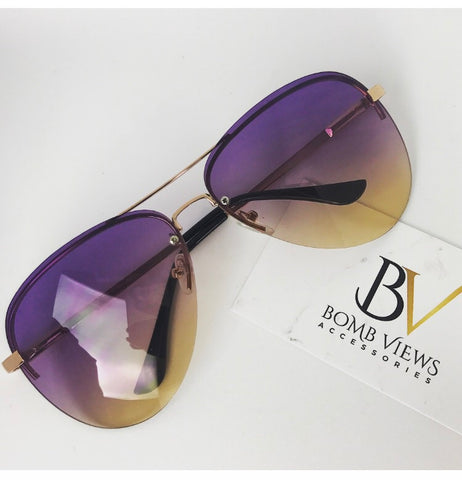 Purple Rain 2 Aviator Sunglasses