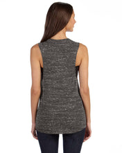 Load image into Gallery viewer, Bella+Canvas Flowy Scoop Muscle Tank Black