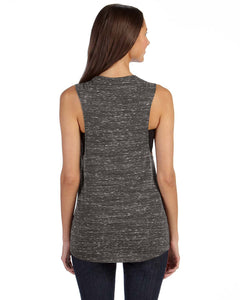 Bella+Canvas Flowy Scoop Muscle Tank Black