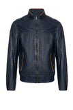 PIER Navy Leather Jacket
