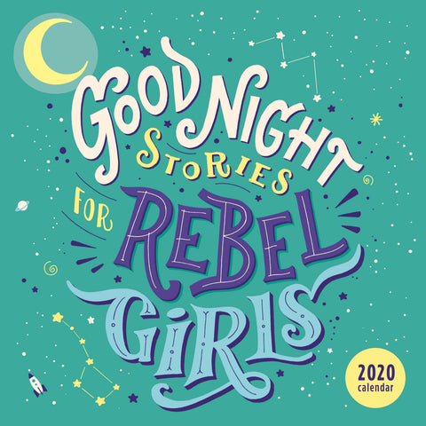Good Night Stories for Rebel Girls 2020 Square Wall Calendar