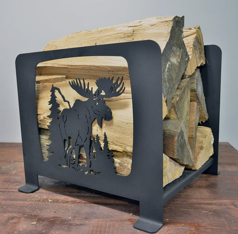 Moose Firewood Holder