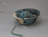 Cobalt Blue Butterfly Yarn Bowl