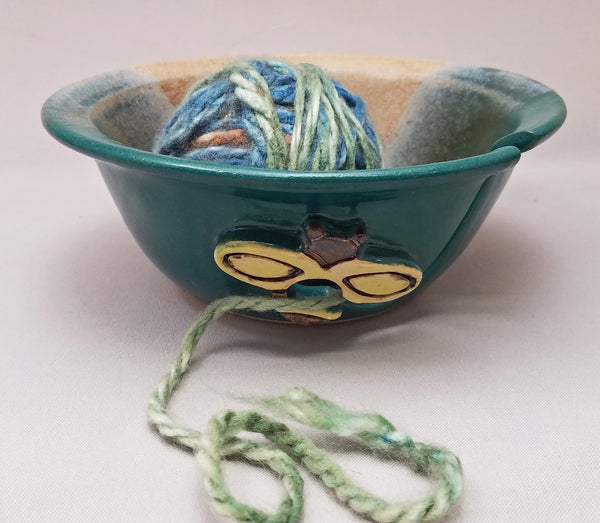 Yellow Bee Yarn Bowl