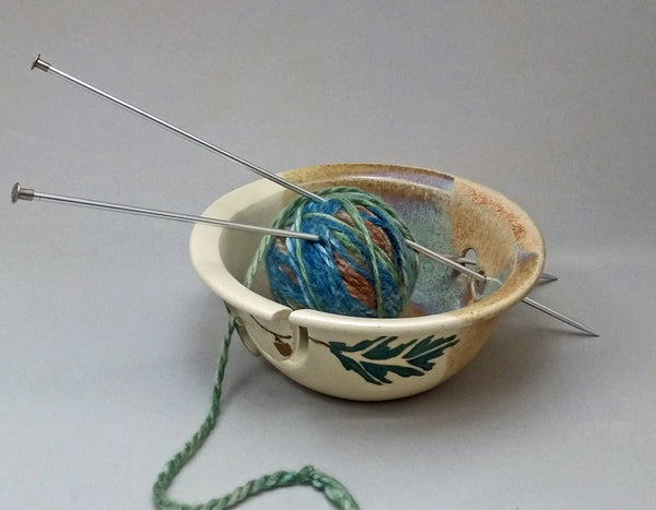 Green Hummingbird Yarn Bowl