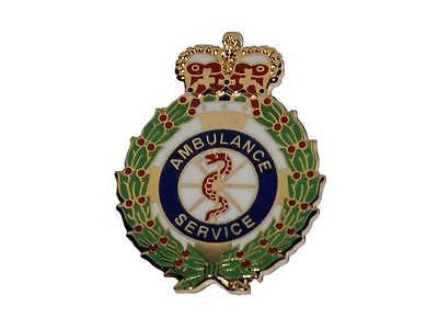 Ambulance Service Crown Metal Tie Pin / Lapel Badge