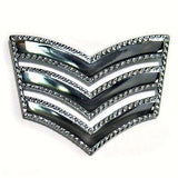 Police Sergeant Stripes / Chevrons (METAL) Roped Edge