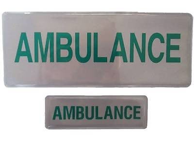 AMBULANCE Mid Size Reflective Badge Set