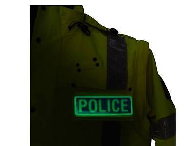 Blue POLICE Glow in the Dark Reflective Badge