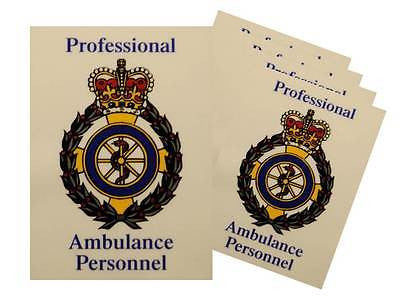 Professional Ambulance Service Car Badges / Window Stickers