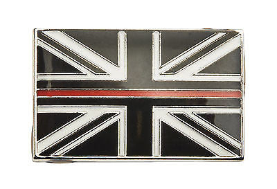 Thin Red Line Union Jack Metal Tie Pin Lapel Badge