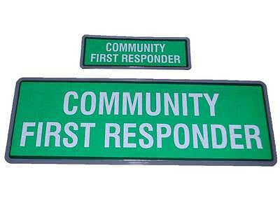 COMMUNITY FIRST RESPONDER Reflective Badge (Velcro Optional)